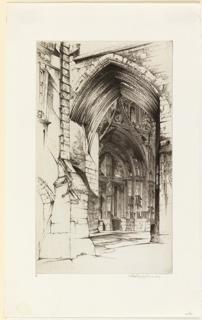 Print, A portal, Notre Dame, Villefranche