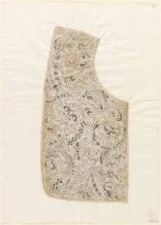 Drawing, Design for the Making of a Man's Needle Lace Collar