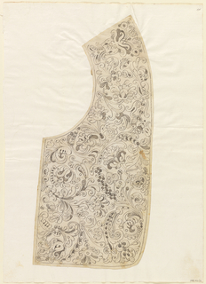 Drawing, Design for the Making of a Man's Needle Lace Collar, ca. 1660