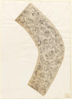 Drawing, Support for the Making of a Woman's Needle Lace Collar, ca. 1660