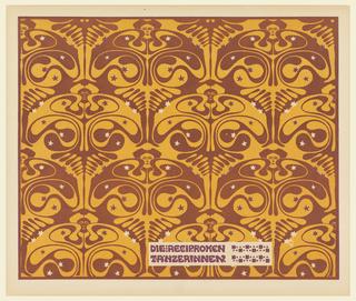 Print, Die reciproken Tänzerinnen (Reciprocal Dancers), Plate 25, in Die Quelle: Flächen Schmuck (The Source: Ornament for Flat Surfaces)