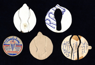 Cardboard Mock-ups For Ice Cream Cup And Spoons (USA), ca. 1937