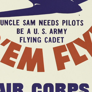 Poster, Let's Go! U.S.A., Air Corps, U.S. Army, 1941?