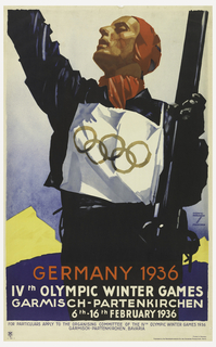 Poster, Germany 1936, IVth Olympic Games, 1936
