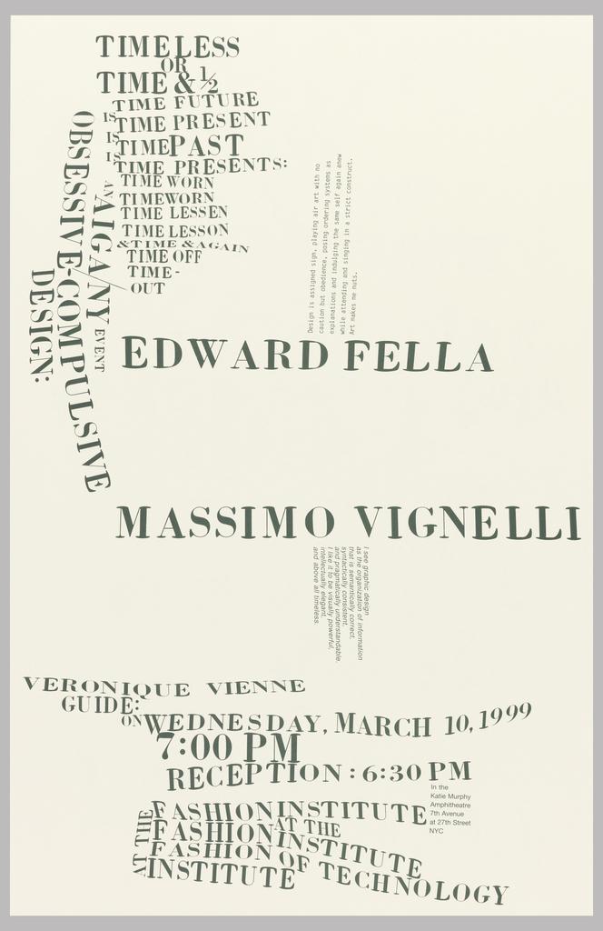 Poster, Obsessive-Compulsive Design, March 10, 1999