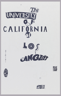 Poster, Edward Fella, University of California Los Angeles, 1997