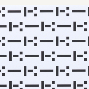 A series of dots and dashes fill the entire page. The sequence is as follows: --I-:--I-: --I-: