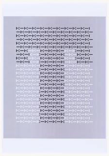 "Print, Design for Letter ""T"" for ""Vivo in Typo"" Poster"