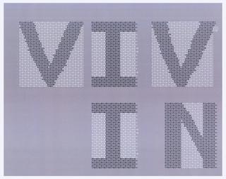 """Print, Design for """"Viv In"""" for """"Vivo in Typo"""" Poster"""