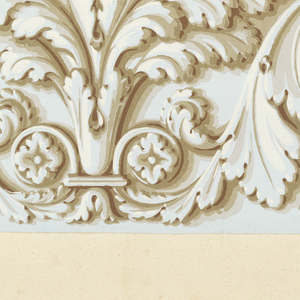 Mostly architectural borders and moldings, printed in grisaille and metallic gold . Some fold-out pages.