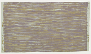 Gold and lavender roughly executed horizontal strokes on pale blue ground.
