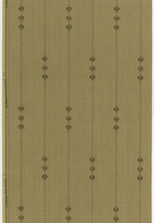 On textured tan ground, vertical rinceaux with floral beads interspersed.