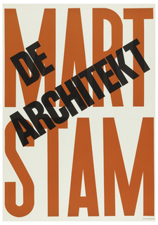 Poster advertising exhibition of the work of Dutch architect Mart Stam.