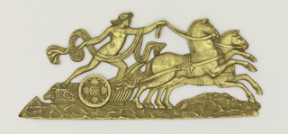 Roman charioteer heading right.