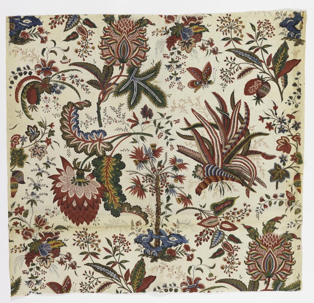 Textile, Fleurs Tropicales et Palmiers (Tropical Flowers and Palms)