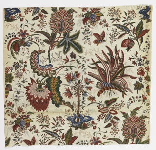 Textile, Fleurs Tropicales et Palmiers (Tropical Flowers and Palms), ca. 1787