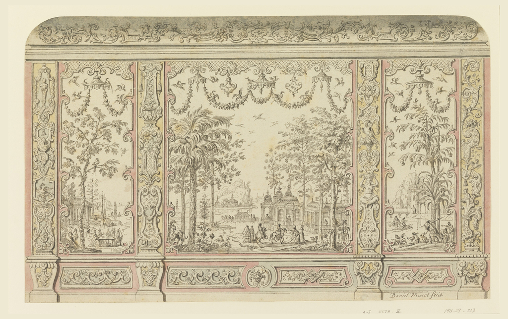 Drawing, Design for Chinoiserie Wall Decoration