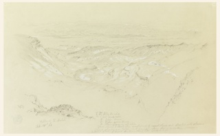 Drawing, Valley of El Arabah
