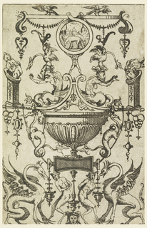 Print, Plate from Opus de ludicro picturae genere (A Work About the Playful Style of Painting)