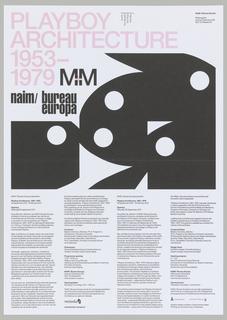 Flyer, Playboy Architecture 1953-1979 (Invitation)