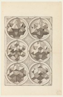 Book on perspective drawing, with 4 pages of text and 49 plates (A to G, 6 plates; H, 4 plates; J, 3 plates.) Also included are 7 ornamental pages designed by Amman.