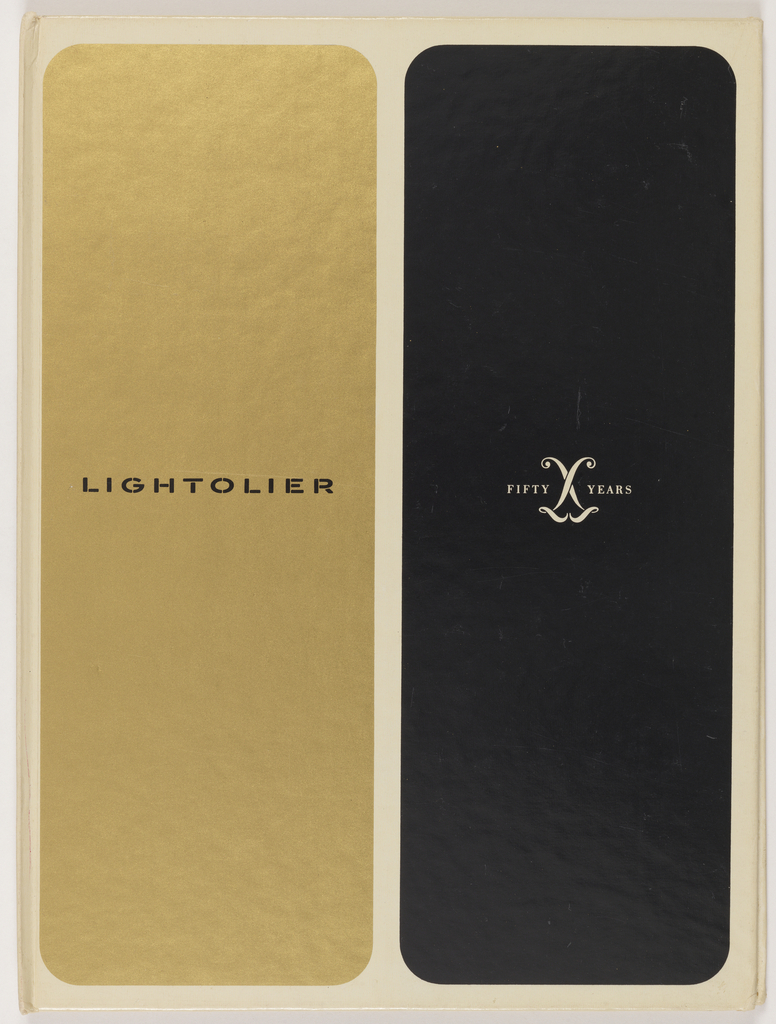 Book Cover, Catalog for Lightolier 50 years anniversary