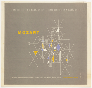 Record Cover, Mozart: Piano concerto in C Major