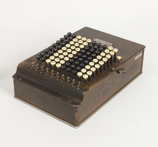 Comptometer Calculator And Cover, ca. 1887