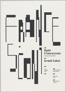 Poster, Ryan Francesconi