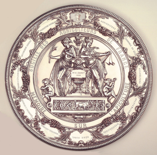 Silver plated award plaque (issued to Monsieur N. Hamet in 1884).