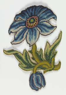 Embroidered Slip (England), 17th century