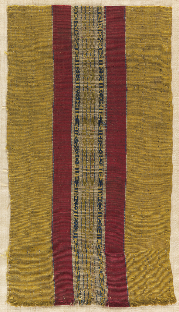 Fragment with vertical stripes.
