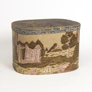 Bandbox And Lid (USA), ca. 1830
