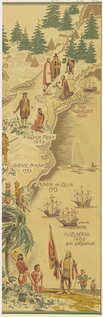 Scenic - Panel, Pioneer America Map