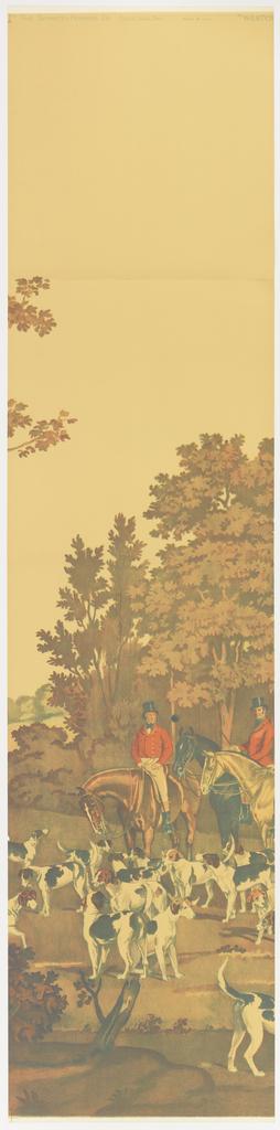 Scenic - Panel, Westchester Hunt, 1930–40
