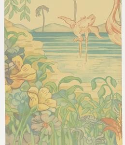 Scenic - Panel, Flamingo, 1939