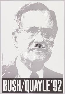Poster, hmmm...Bush/Quayle '92