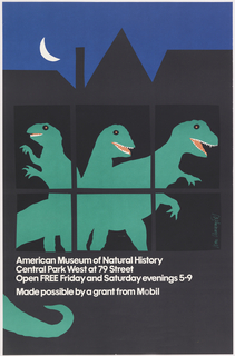 Poster, Mobil, American Museum of Natural History