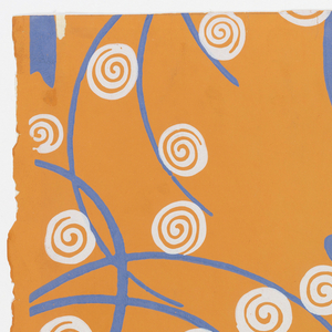 Sidewall, Wallpaper with Stylized Trees, ca. 1920, Cooper Hewitt, Smithsonian Design Museum