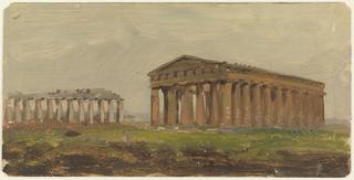 Drawing, Paestum, Temple of Neptune