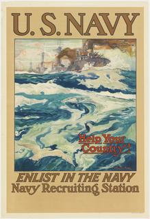 Poster, Enlist in the Navy