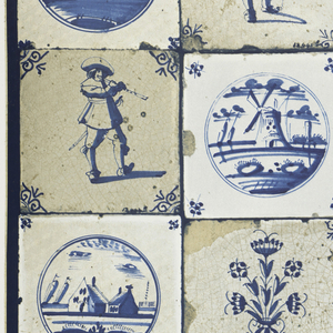 Blue and white Dutch tile design, produced by d-c-fix: registered by Konrad Hornschuch, Germany.