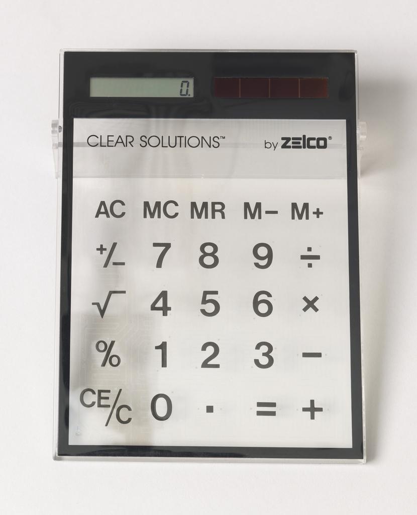 Clear Solutions Solar Calculator Calculator, 1988