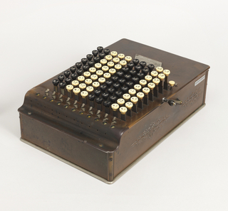 Comptometer Calculator And Cover, ca. 1887