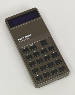 This model had a total of twelve versions that ranged from four-function calculators to the Cambridge Programmable.  Most versions, such as ours, use AAA pen cell batteries to maintain its slim profile.