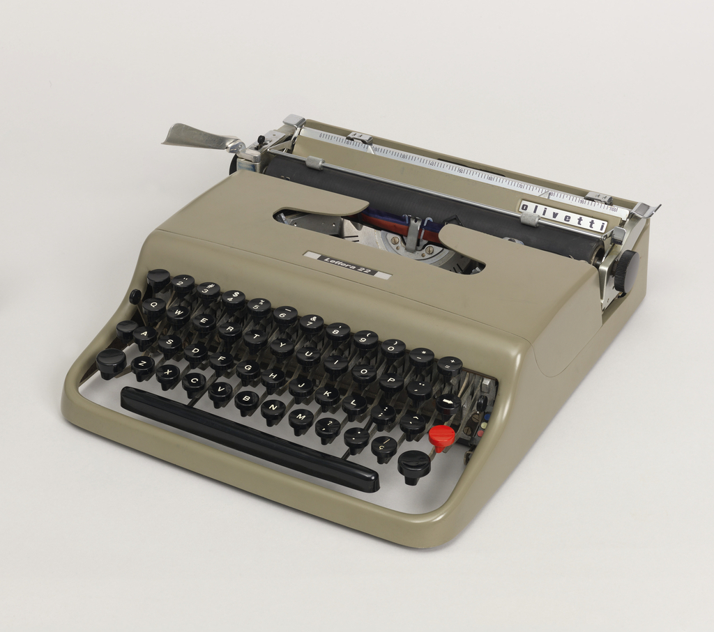 Lettera 22 Typewriter With Case And Cover, 1950