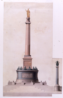 Drawing, Monument to Franz I, Empe