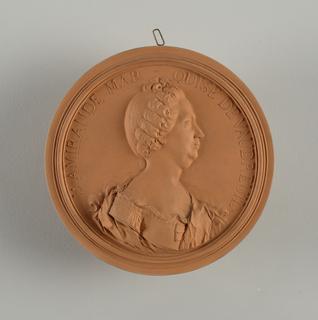 reproduction portrait medallion of Louis-Philippe Rigaud, Marquise de Vaudreuil (1723-1817)