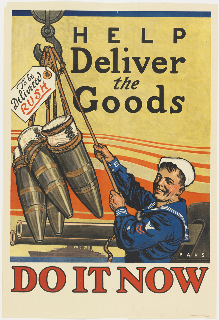 Poster, Help Deliver the Goods