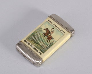 First Over the Bars Matchsafe, late 19th–early 20th century